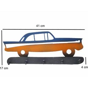 Porta Chaves Carro Antigo Todo Em Ferro Modelo Retrô Sala