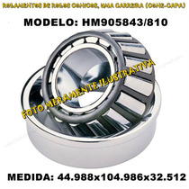Rolamento Automotivo Hm905843/810 Med:44.988x104.986x32.512