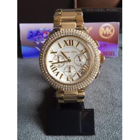 e5e9de7a29a Relógio Michael Kors Dourado Strass - Relógios no Mercado Livre Brasil