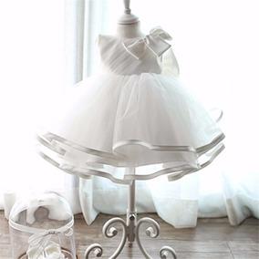 Vestido De Fiesta Nena Con Tiara Bautismo, Cumpleaños,boda.