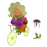 Boneca De Flor Com Bicicleta Enfeite E Decoraçao Jardim Casa