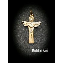 Cruz Dios Padre Hijo Y Espiritu Santo En Plata Con Baño Oro