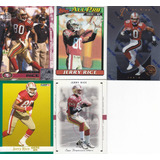 Lote 5 Tarjetas Diferentes Jerry Rice Wr 49ers