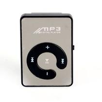 Mini Mp3 Player Digital Music Espelhado Preto