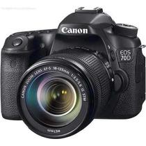 Canon Eos 70d Kit Lente 18-135mm | Novo Nota E Garantia