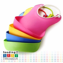 Babero De Silicona Baby Innovation Cuello Ajustable Bolsillo
