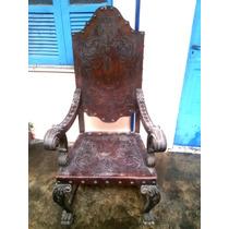 Cadeira Antiga Pata De Leao .