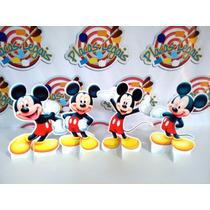 Kit Cenário Display Chão Mickey Totem Painel 4 Peças