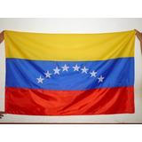 Bandera De Venezuela. 140 X 90 Cms. Estrellas Aplicadas