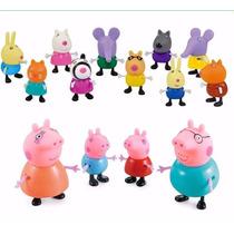 Brinquedo Peppa Pig Família E 10 Amigos (14pcs) Promoção