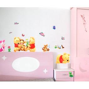 Adesivo Parede Ursinho Puff Baby Pooh Tigrão Leitão