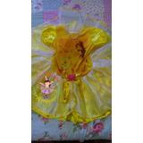 Vestido Fantasia Roupa Aniversário Luxo Bela E A Fera Disney