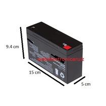 Bateria Recargable De 6 Volt 12 Amperes Para Carrito / Motos