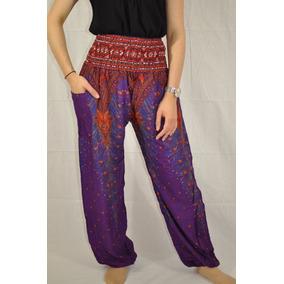 Pantalones Tipo Thai Boho Yoga Bombacho Unitalla Unisex