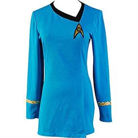 Traje Del Vestido Cosplaysky Star Trek La Mujer Azul D W36