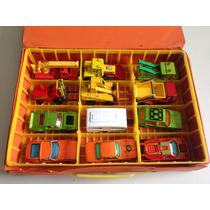 Lote De 16 Matchbox + 3 Tomica + 2 Cajas P/ Transportarlos