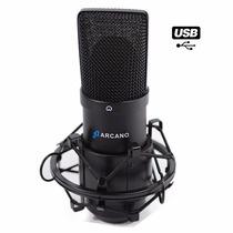 Fg Microfone Usb Arcano Para Estúdio Black Usb 01 Bku-01