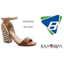 Sandalia Ramarim Ref-1541103 Caramelo Promoção