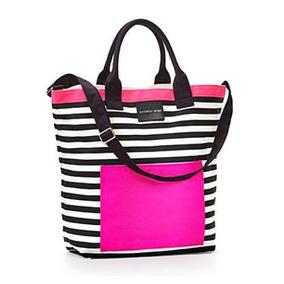 Subasta Bolso Victorias Secret Rayas Pink Negro Fucsia
