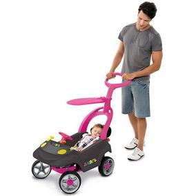 Carrinho Smart Baby Comfort Bandeirante 521 Grafite/rosa