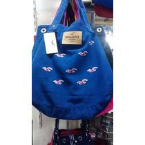 Bolsa Feminina Hollister Azul Modelo Sacola Varias Cores