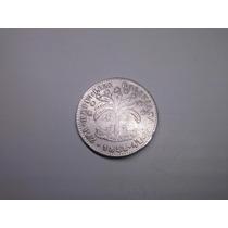Moeda Bolivia 4 Soles Paz 1856 / 8 / 5 Prata