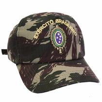 Boné Camuflado Com Bordado Exército Brasileiro , Militar