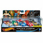 Hot Wheels - Justice League Pack C/ 5 Carros - Mattel