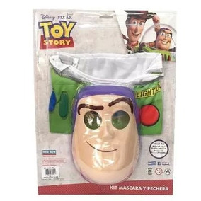 Disfraz Buzz Lightyear Mascara Y Pechera Toy Story Disney