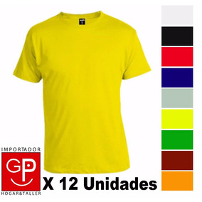 Camiseta Remera Básica X 12 Unidades Talles S Al Xxl G P