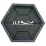 Kit 10 Formas Sextavado Estria Bloquete 30x30x4,5cm - Fp011