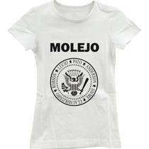 Camisa Camiseta Feminina Molejo Ramones Molejão