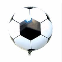 Kit 50un Balão Metalizado Bola De Futebol 45cm