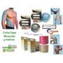 Cinta Tape Kinesiologicas Muscular 5cm X 5metro Colores