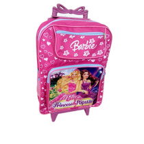 Mochila Escolar Infantil Com Rodinha Barbie Pop Star