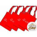 Bolsa De Tela Impresa Con Tu Logo 30x30x10cm
