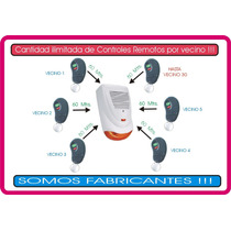 Alarma Vecinal Barrial Comunitaria Inalambrica+1 Cr+cartel