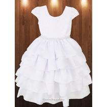 Vestido Infantil Festa Luxo Ano Novo Formatura 1 Ao 12 Anos