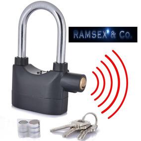 Candado Arco Largo Motos Seguro Rin Disco Alarma Seguridad