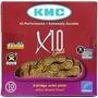 Corrente Kmc X10 Dourada P/10v