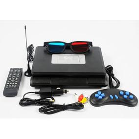 Dvd Portátil Tela 7.8 Tv Fm Jogos Controle Joystick Usb Sd