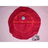 Funda Cubre Llanta De Refaccion Vocho Roja Logo Vw (me)
