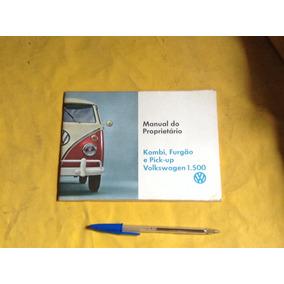 2e8ae15966b Kombi Anos 60 - Manual Original Estado De Novo Exclente Raro