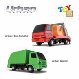 Kit Caminhão Coletor De Lixo + Tira Entulho Roma Urban