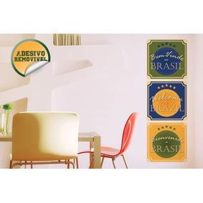 Adesivo De Parede Decorativo Bem Vindo Ao Brasil Ecaza 6998