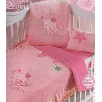 Cobertor Cunero Ballenita Rosa Regina