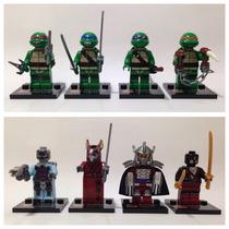 Lego Compatível - Kit 8 Bonecos - Tartarugas Ninja