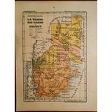 Mapa Antiguo La Pampa Rio Negro Chubut Tierra Del Fuego 1911