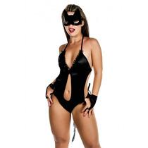Fantasia Feminina Sexy Mulher Gata Lingerie Sensual