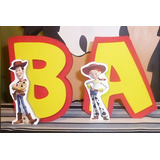 Letras Candy Bar, Mesa Dulce De15cm Decoradas Toy Story